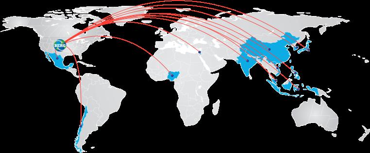 Berg Mill Shipping Map